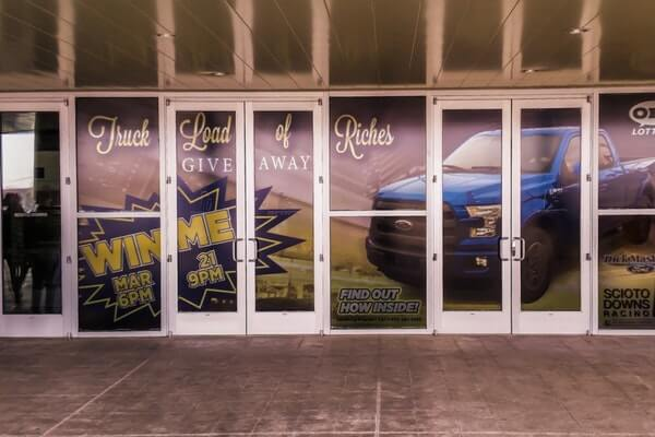 Temporary Promotional Window Mural