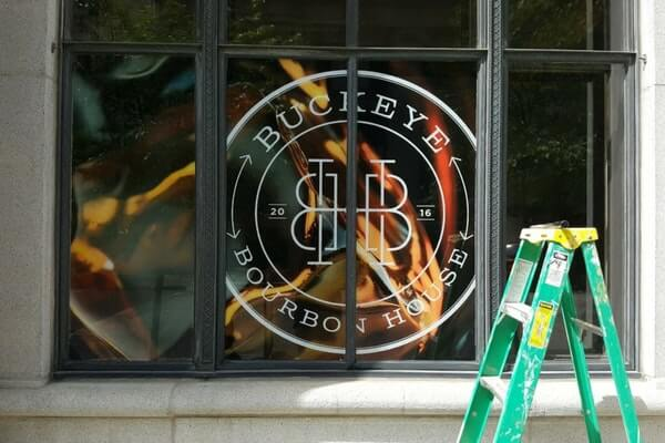 Branded Window Mural for Buckeye Bourbon House