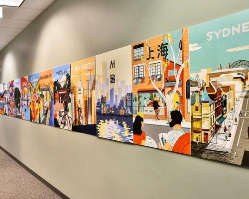hallway wall art