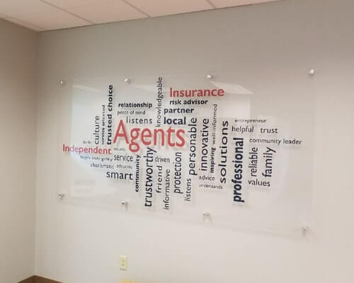 Acrylic Sign with Word Cloud