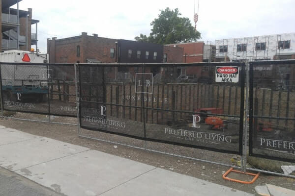 Fine Mesh Fence Banner for Jobsite