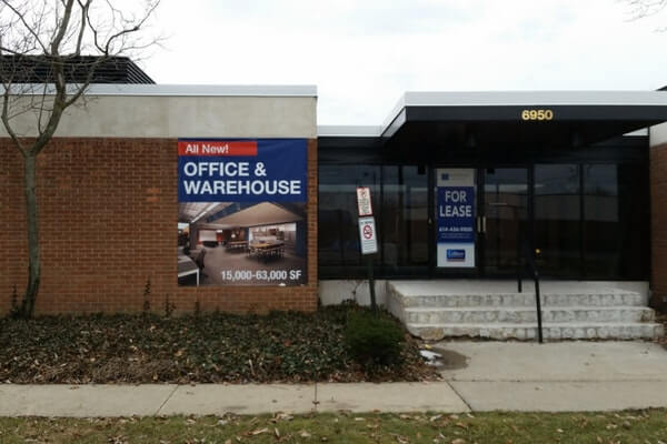 Large Commercial Real Estate Banner Advertising Office and Warehouse space