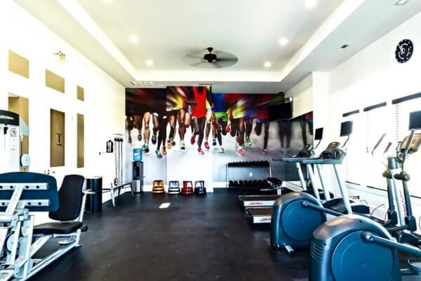 Workout Room Wall Mural Accent Wall