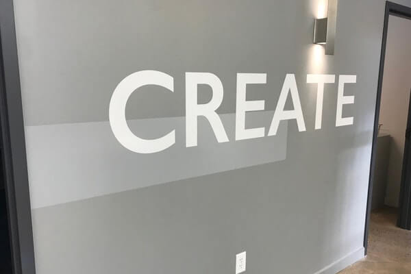 Inspirational office wall decal