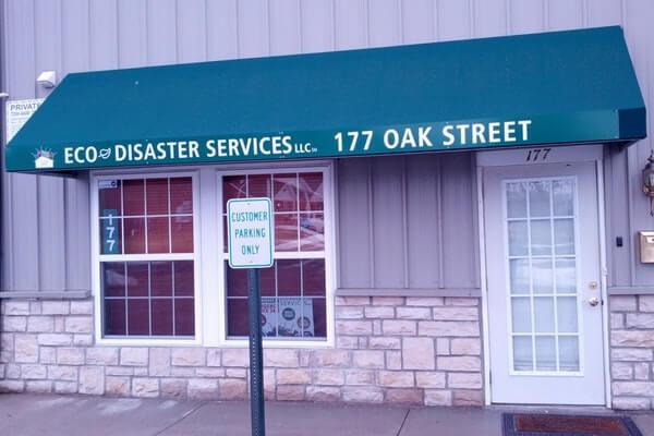 awning signage and business address signage
