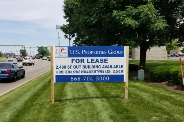 Double Sided Post and Panel Sign for Commercial Real Estate Property