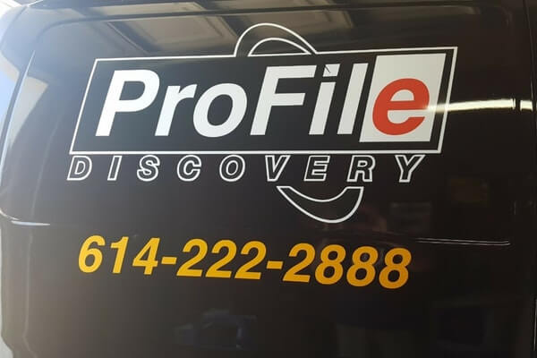 large van decal and contact information