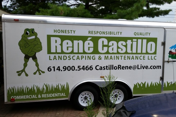 Large Trailer Wrap, Landscape and Mainenance