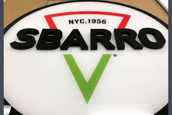 Sbarro Backlit Plexi Sign