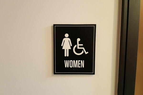 Womens Bathroom ADA Compliant Wall Plate