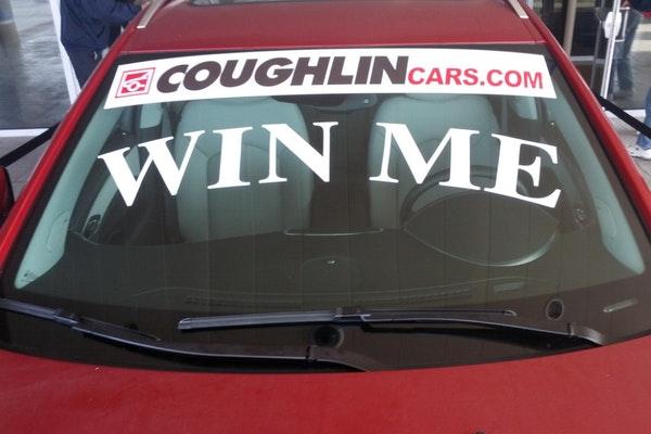 temporary car window decal
