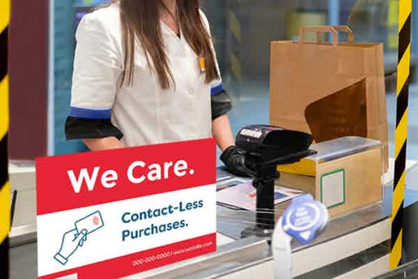 Touchless Purchase Sign