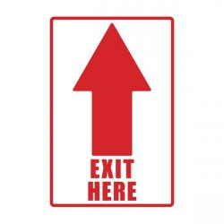 Exit Here with white back
