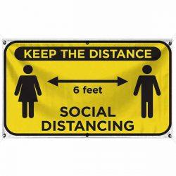 Keep The Distance 18x30 Banner WEB