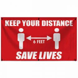Keep Your Distance 18x30 Banner WEB