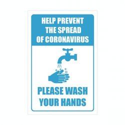 Please wash your hands mirror sticker