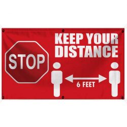 Stop Keep Your Distance 18x30 WEB