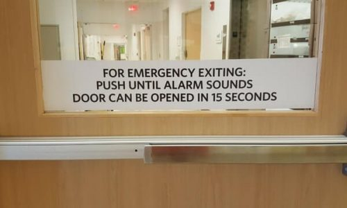 Emergency Exit Alarm Sign